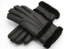 Lederen dames handschoenen Winter Vibes|Zwart|Zachte voering