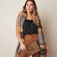 Dames clutch Soft Leopard|Handtas|Schoudertas|Luipaard print|Bruin