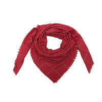 Vierkante dames sjaal Glittered Blocks|Rood goud