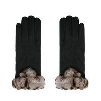 Zachte dames handschoenen Warm Touch|Zwart|warme handschoenen