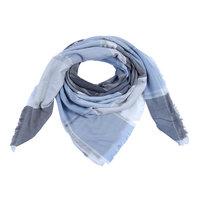 Dames sjaal Sweet Blocks|Vierkante sjaal|Blauw grijs|Geblokt|Extra zacht