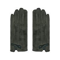 Zachte dames handschoenen Elements|Olijfgroen|Strik|warme handschoenen