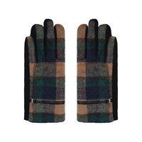 Zachte dames handschoenen Scotland|Beige groen blauw|Geruit Geblokt