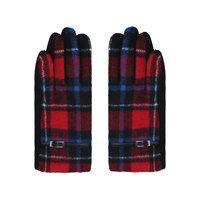 Zachte dames handschoenen Scotland|Rood blauw|Geruit Geblokt
