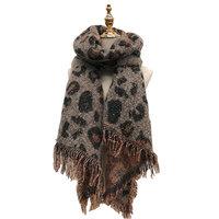 Warme dames sjaal Leopard Lovers Langwerpige shawl Extra dikke kwaliteit Luipaard Glitter