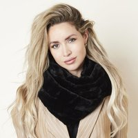 Faux fur col sjaal Furry Loop|Zwart|Tube shawl|col sjaal|Nep bont