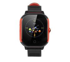 GPS Kinderhorloge|Rood zwart|Waterproof|GPS tracker|SOS knop|Belfunctie|Met opgewaardeerde SIM kaart