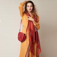Zachte dames sjaal Autumn Storm|Rood Bruin|Geruit