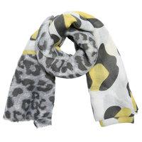 Lange dames sjaal Wild Cat|Lange shawl|Luipaard|Grijs geel