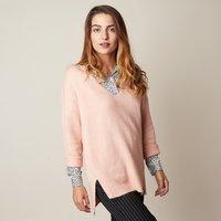 Dames trui Long Knit|Roze|Gebreide trui