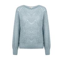 Dames trui Novee|Lichtblauw|Gebreide trui|Fluffy damestrui