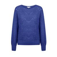 Dames trui Novee|Kobaltblauw|Gebreide trui|Fluffy damestrui