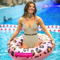 Zwemband Pink Leopard Opblaasfiguur Waterspeelgoed Roze luipaard