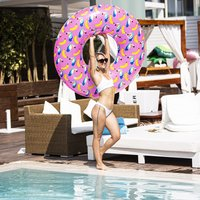 XL Zwemband Tropical Toucan Opblaasfiguur Waterspeelgoed Tropische print