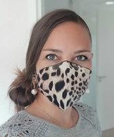 Hip mondmasker Roar|Stoffen luipaard mondkapje|100% Katoen|Wasbaar 60 graden|Herbruikbaar