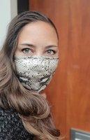 Tof mondmasker Snake|Katoen mondkapje|Wasbaar|Incl. 4 Carbon filters