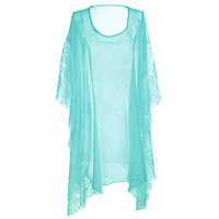Beach poncho love blauw