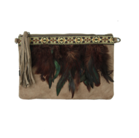 Dames Clutch Feathers