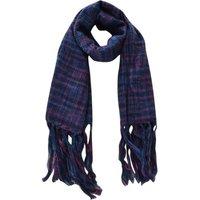 Gebreide dames sjaal Melange blauw