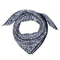 Vierkant dames sjaaltje zijde-look Panter grijs