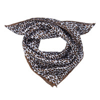 Vierkante dames sjaal Panter bruin