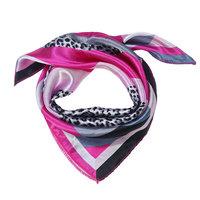 Vierkant dames sjaaltje zijdezacht Pink Glam
