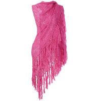 Dames omslagdoek sjaal Fuchsia roze