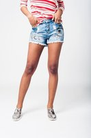 Denim short handbeschilderd