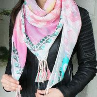 Vierkante dames sjaal Baroque