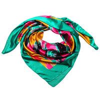 Groen vierkant sjaaltje zijde look African Vibes