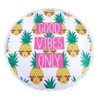 Roundie Good Vibes|Rond Strandlaken|Badstof|Dikke kwaliteit|Ananas