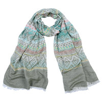 Lange dames sjaal Lovely aztec groen