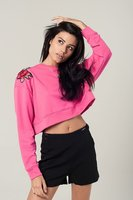 Roze cropped sweatshirt