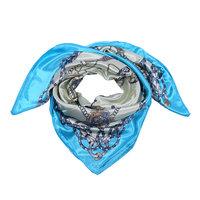 Aqua blauw vierkant sjaaltje Pretty Carriage