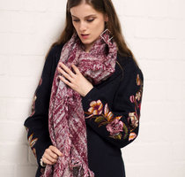 Warme dames sjaal Dream Glitter|Lange dames shawl|Rood|Extra zacht