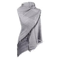 Lange dames sjaal Minimal Stripes|Grijs Beige|Omslagdoek|Gestreepte sjaal|shawl