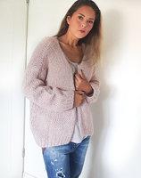 Gebreid fluffy vest Alexandre Laurent roze|mohair|poederroze