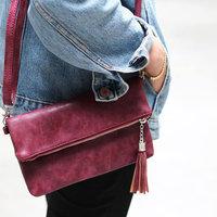 Dames clutch My Baby|Handtas|Schoudertas|Bordeaux rood burgundy