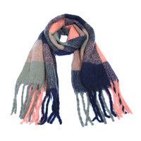 Warme dames sjaal Soft Colour Dream blauw|Lange dames shawl|Extra dikke kwaliteit|Blauw Roze grijs|Extra groot