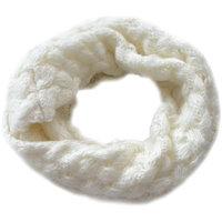Gebreide col sjaal Tola|Off white wit|Tube shawl|Ronde sjaal|Cirkel sjaal
