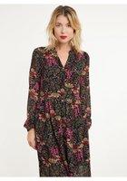 Boho maxi jurk Elicia An'ge Paris|Fuchsia groen|Bloemenprint|Floral