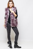 Faux fur vest grijs|Gilet|Fake fur bont|Mouwloos vest|Bodywarmer