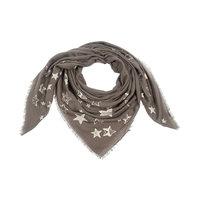 Vierkante dames sjaal Painted Stars|Vierkante shawl|Sterrenprint|Groen Beige