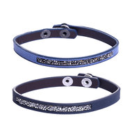 Armbanden set Duo Glam|Blauw|Glitter|Lederlook