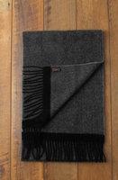 Mooie heren sjaal Herringbone|Wollen shawl|Visgraat|Grijs Antraciet