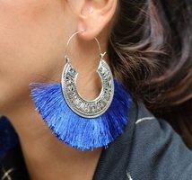 Oorbellen Tassel Mania|Oorhangers oorstekers|Blauw