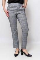 Dames pantalon broek geruit|Zwart wit grijs|Geruit geblokt