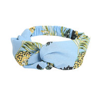 Haarband Pineapple Party|Blauw haarband|Knot|Ananas print