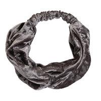 Elastische haarband Velvet Grijs Zilver Velvet velours haarband Knot