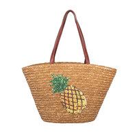 Beach Bag Pineapple|Strandtas|Bruin|Ananas|Papier
